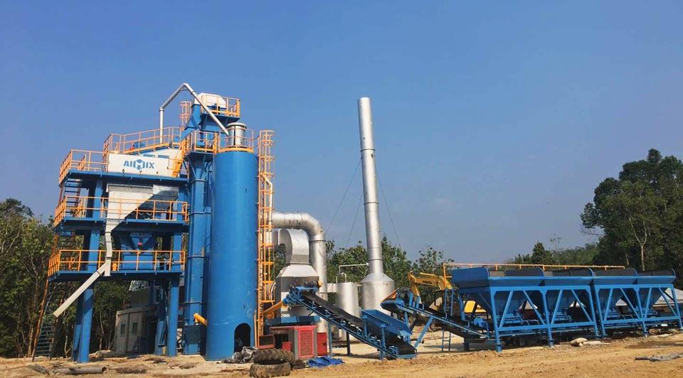 ALQ80 asphalt mix plant in Indonesia