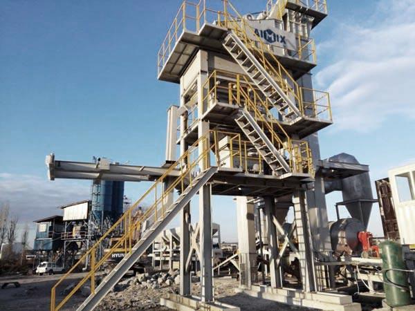 ALYQ100 mobile asphalt mixer plant