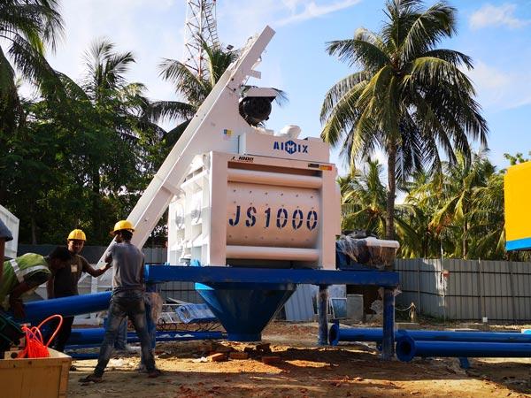 JS1000 twin shaft mixer