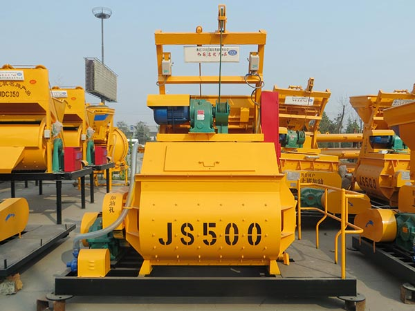 JS500 twin shaft mixer