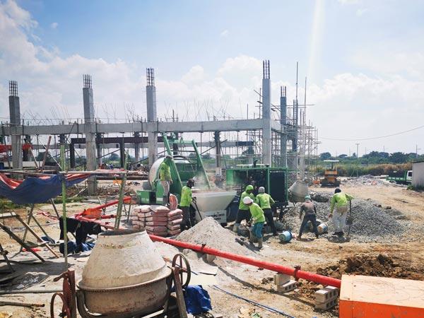 Philippines diesel cement mixer pump