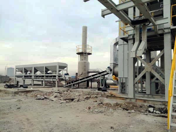 batch asphalt plant installation