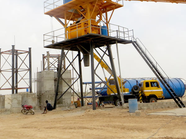 discharge system of belt conveyor batch plant