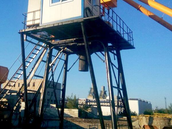 discharge system of hopper concrete plant