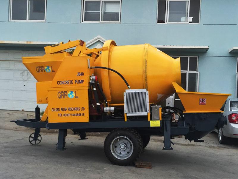 electric concrete mixer and pump