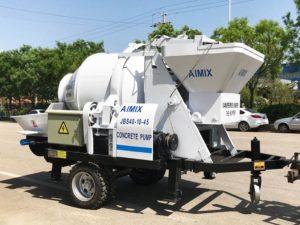 electric mobile concrete mixer pump