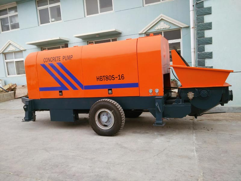 electric mobile concrete pump