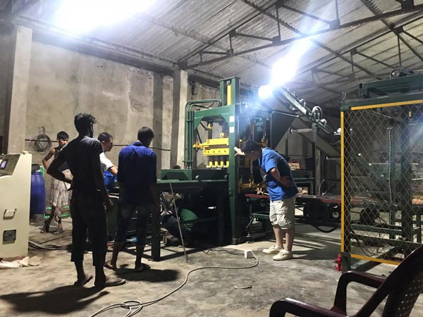hydraulic bricks machine