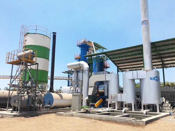 installation of asphalt plant Indonesia
