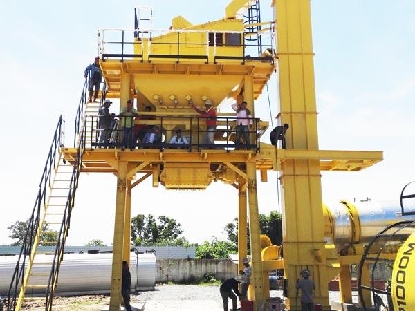 mixing tower mobile asphalt plant
