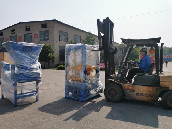 shipment of fly ash brick machine
