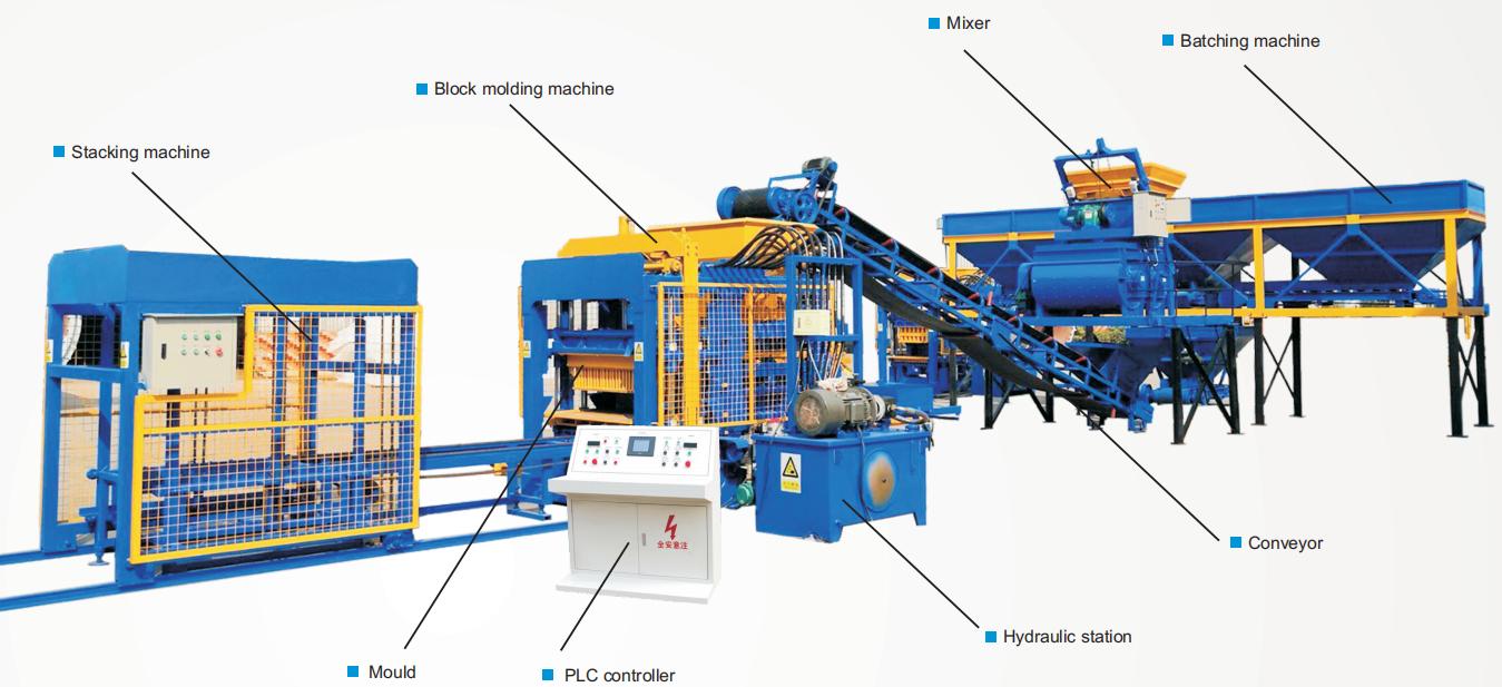 unique design of holow block moulding machine