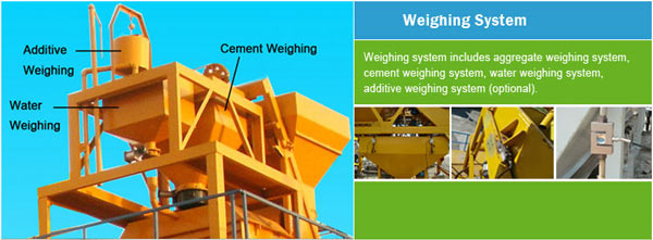 weighing system in concrete plant