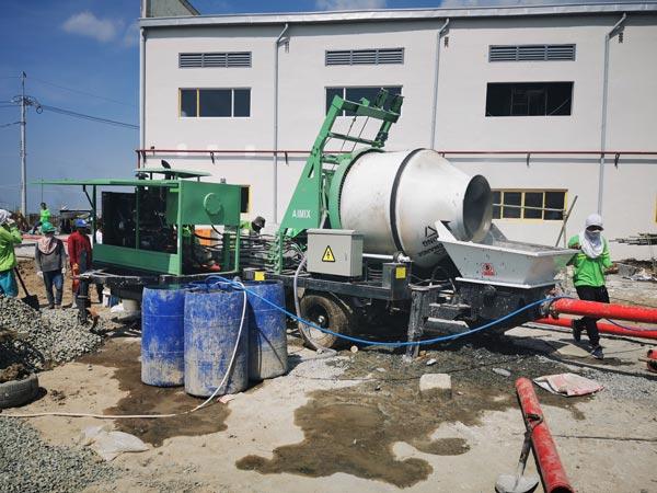 working site of diesel mixer pump