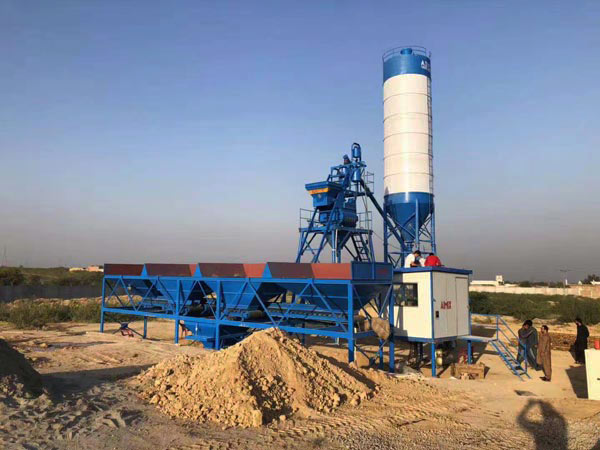 AJ-25 small concrete mixing plant