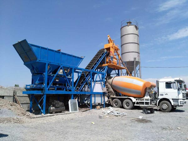 AJY-25 mobile small concrete plant