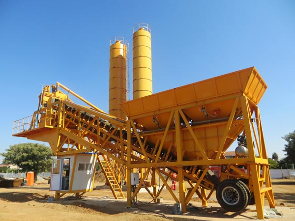 AJY-35 mobile small concrete plant