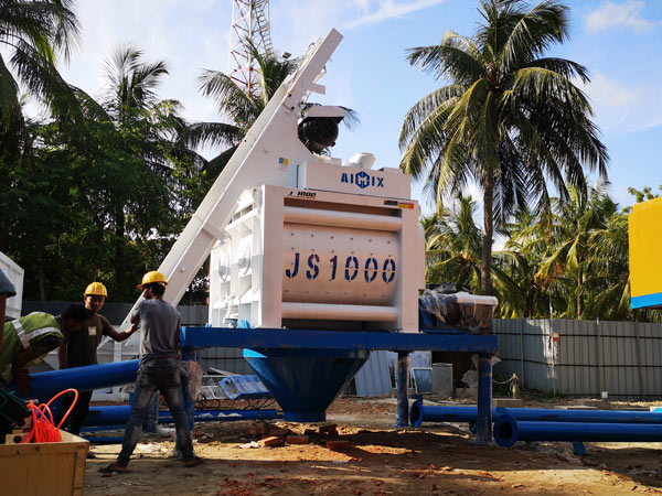 install AJ-50 ready mix plant in Bangladesh