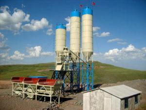 small skip hoist concrete plant