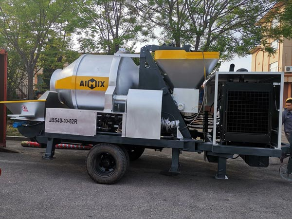 ABJZ40C diesel concrete mixer with pump