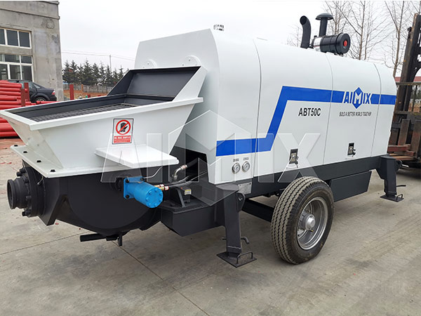 concrete pump with diesel engine