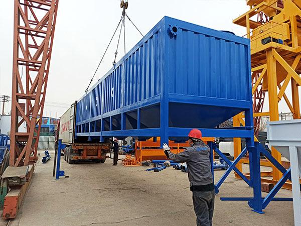50 ton horizontal cement silo