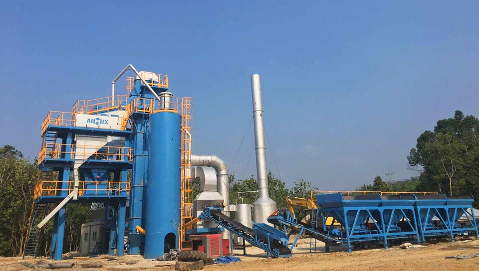 80t asphalt mixing plant Indonesia