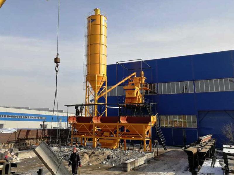 AJ-75 concrete plant Kazakhstan