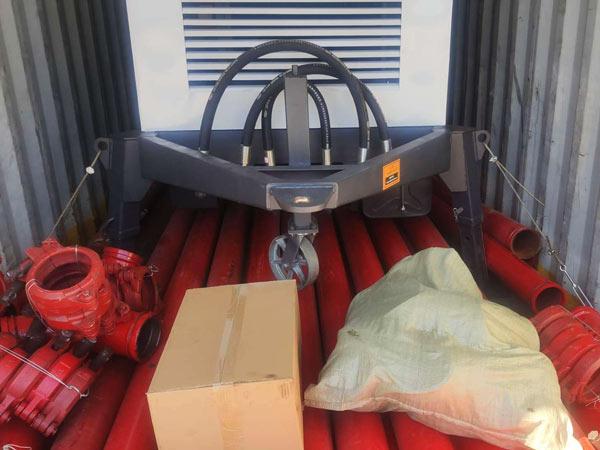 delivery of diesel concrete pump