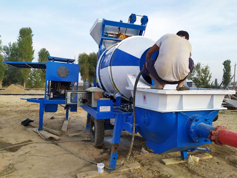 diesel concrete mixer pump Uzbekistan