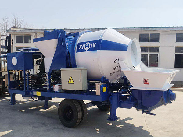 diesel concrete mixer with pump Indonesia