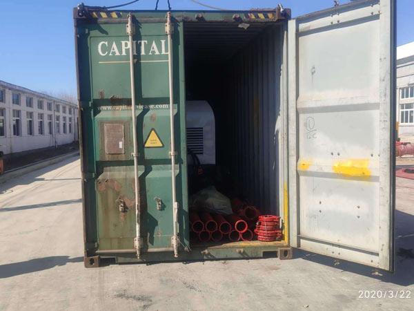 shipment of diesel concrete pump