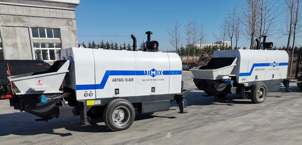 trailer concrete pump Uzbekistan