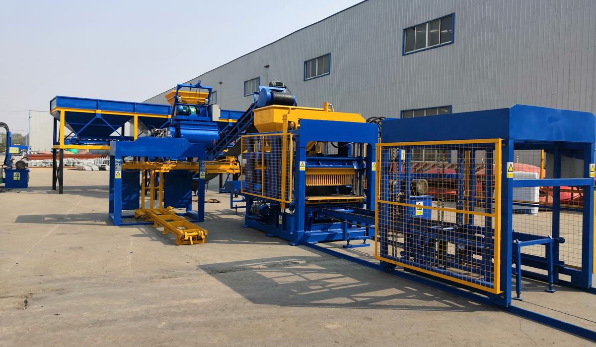 ABM-4S automatic concrete block manufacturing machine