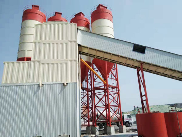AJ-180 container concrete batching plant