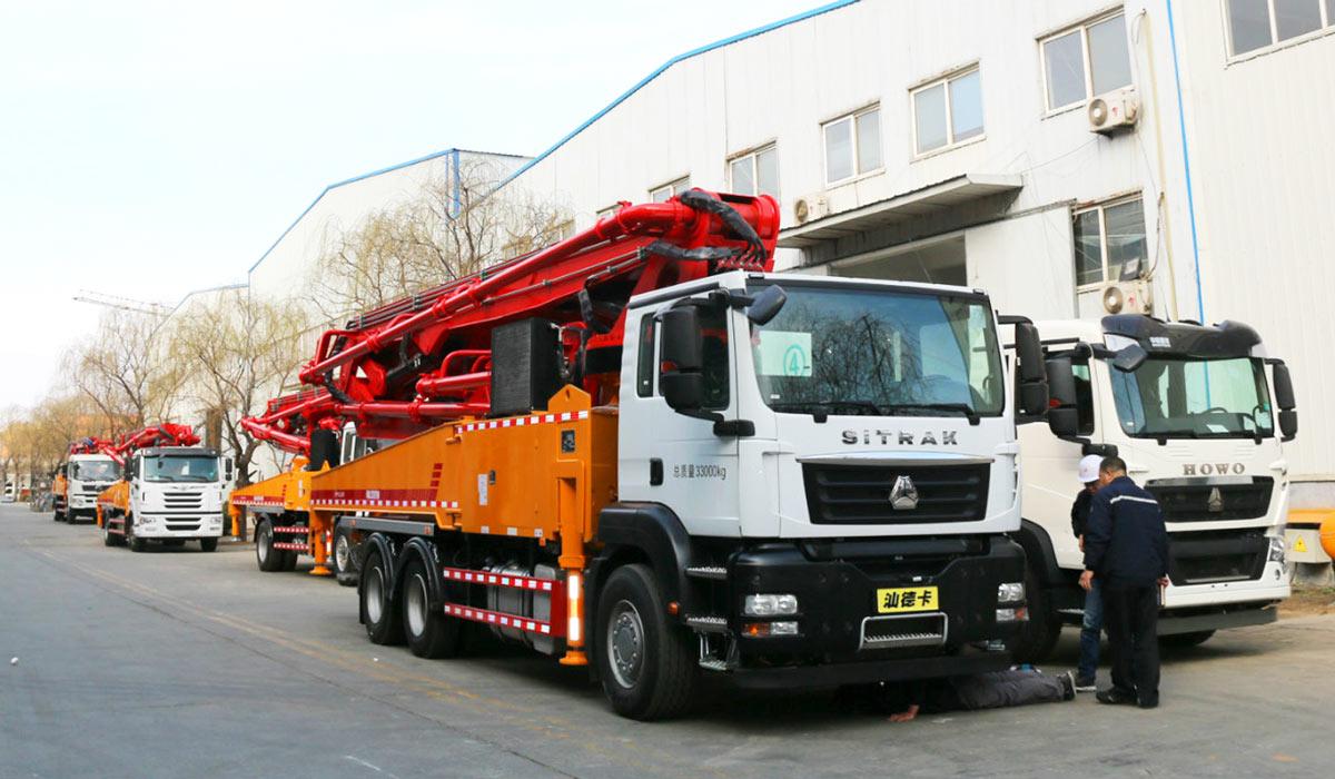 China concrete boom pump