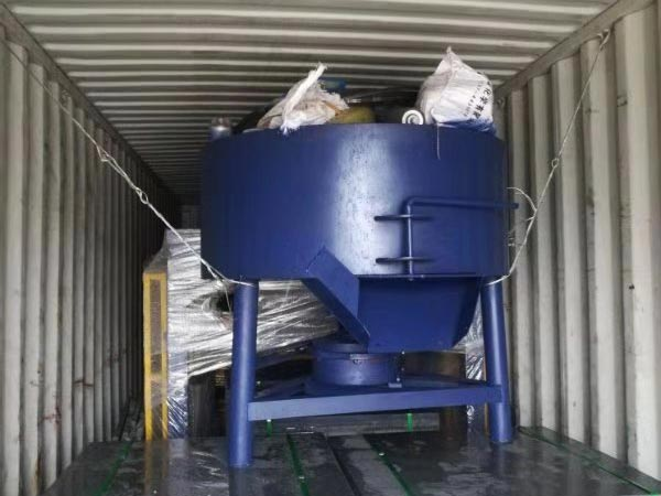 concrete pan mixer for ABM-4SE semi automatic block machine