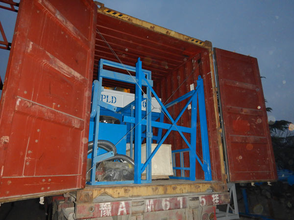 delivery of concrete batching machine