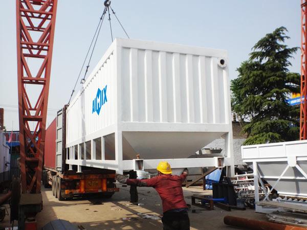 silo de cimento horizontal para Costa do Marfim