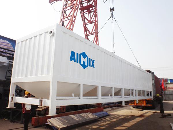 silo de cimento horizontal estava indo para a Costa do Marfim