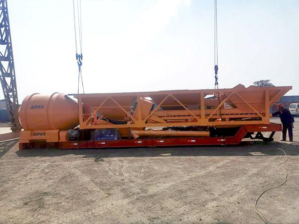 central de dosagem de misturador portátil de concreto para Indonésia