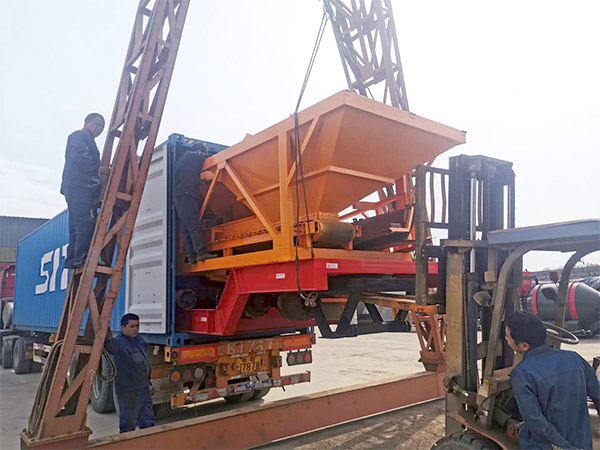 planta de concreto portátil para a Indonésia