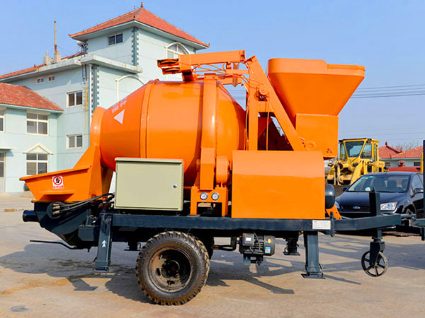 ABJZ30D electric concrete mixer and pump