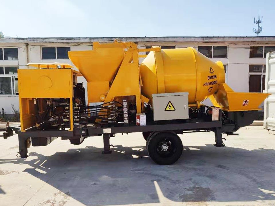 ABJZ40C diesel portable concrete mixer pump Jamaica