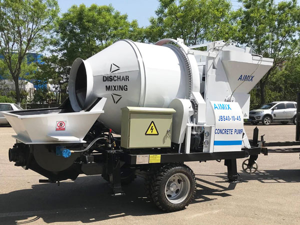 ABJZ40D electric concrete mixer and pump