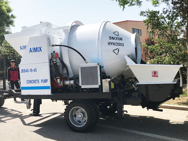 ABJZ40D electric concrete pump and mixer to Bangladesh