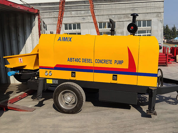 ABT40C รถพ่วงปั๊มคอนกรีตอินโดนีเซีย