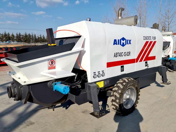 Máquina de bomba de concreto a diesel ABT40C