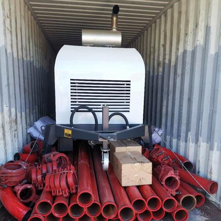 ABT40C diesel concrete pump was going to Philippines