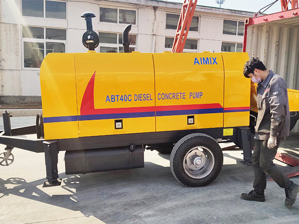 ABT40C diesel engine concrete pump Indonesia